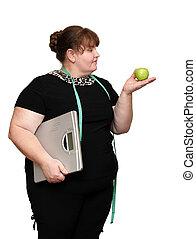 dieting, przeważać, kobiety