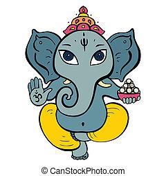 dieu hindou, ganesha.