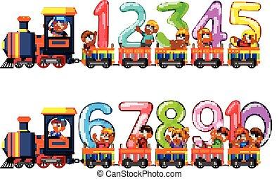 diez, conde, dejarnos, niños, tren