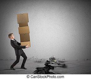 difícil, carrera, en, empresa / negocio
