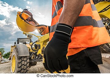 difícil, construção, segurança, chapéu