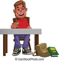 difícil, estudante