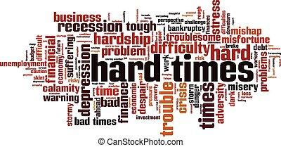 difícil, palavra, nuvem, vezes