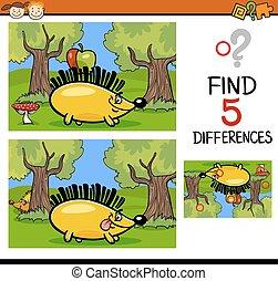 diferenças, crianças, tarefa