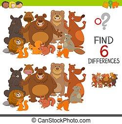 diferenças, mancha, atividade