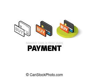 diferente, ícone, estilo, pagamento