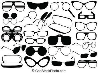 diferente, óculos