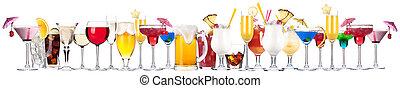diferente, alcohol, bebidas, conjunto