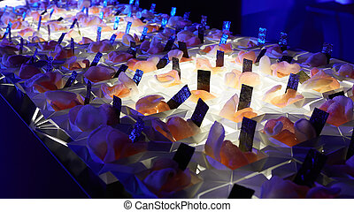 diferente, alimento, bocados, abastecimiento,  beautifully, tabla, adornado, banquete