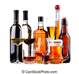 diferente, bebidas alcohólicas