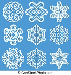 diferente, branca, cobrança, snowflakes