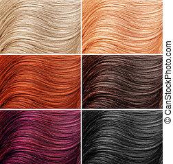 diferente, cabelo, cores