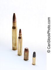 diferente, calibre, balas