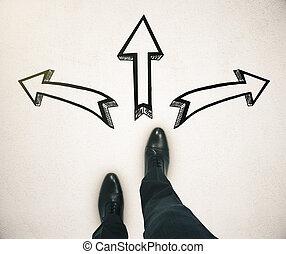 diferente, conceito, direção