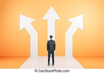 diferente, conceito, direção, sucesso