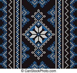 diferente, conjunto, patrón, ornamento, ilustración, vector, colors., étnico