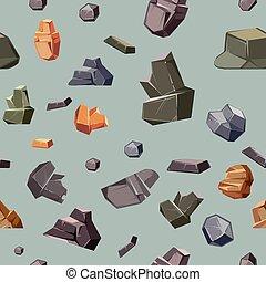 diferente, cores, seamless, textura, pedras