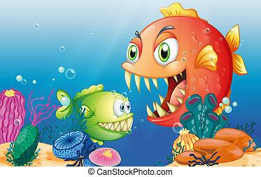 diferente, criaturas mar