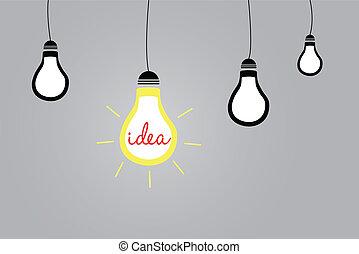 diferente, de, multitud, mejor, idea