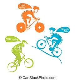 diferente, deportes, ciclismo, diseño