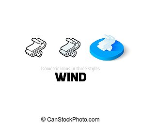 diferente, estilo, vento, ícone