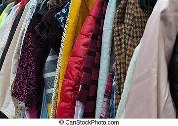 diferente, experiência colorida, roupas