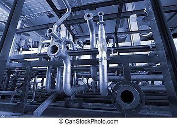 diferente, formado, tamaño, potencia, tubos, planta