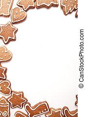 diferente, formas, de, bolinhos gingerbread
