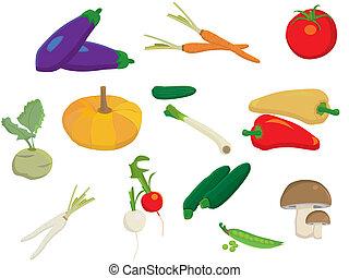 diferente, fundo branco, legumes, cobrança