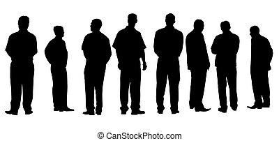 diferente, hombres de negocios, aislado