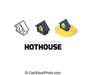 diferente, hothouse, estilo, ícone