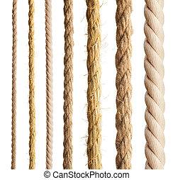diferente, isolated., cordas, cobrança, corda, experiência.,...