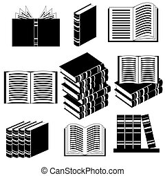 diferente, jogo, livro, ícones