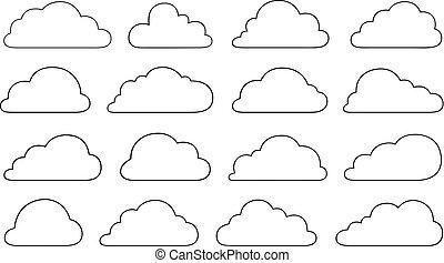 diferente, jogo, nuvens
