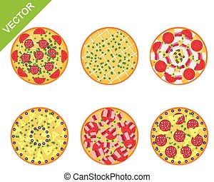 diferente, jogo, pizza