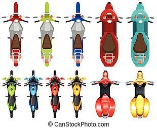 diferente, jogo, scooter