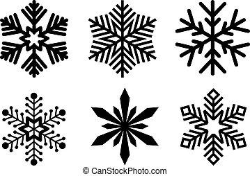 diferente, jogo, snowflakes