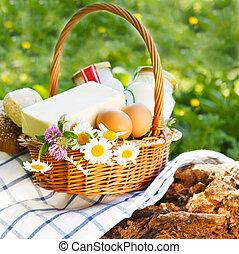 diferente, leche, products:, queso, crema, leche, aceite