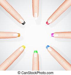 diferente, manicure