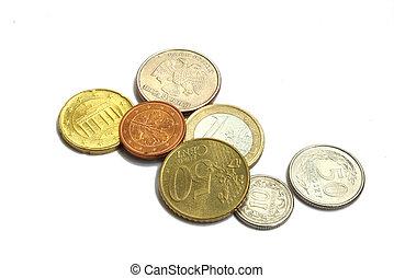 diferente, moedas, países