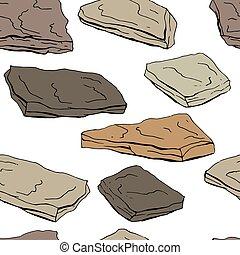 diferente, padrão, seamless, cor, stones., contorno