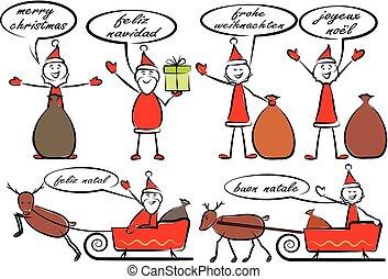 diferente, papai noel, linguagens, feliz natal