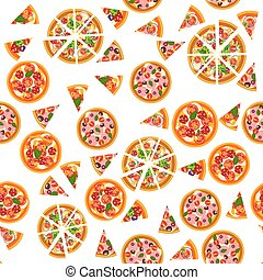 diferente, pattern., seamless, fundo, pizza