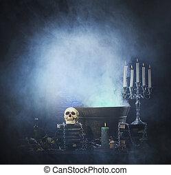 diferente, plano de fondo, brujería, libro, halloween,...