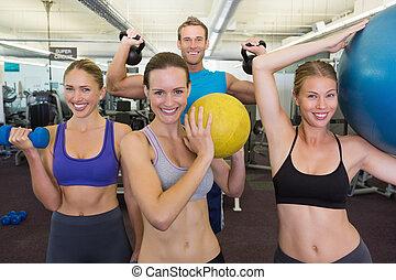 diferente, posar, classe, condicão física