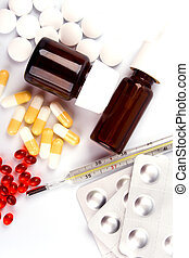 diferente, primer plano, píldoras