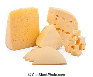 diferente, tipos, de, queso