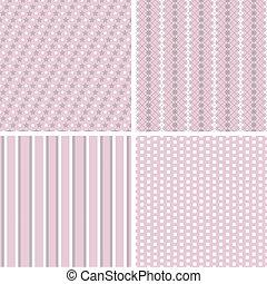 diferente, vector, seamless, patterns.