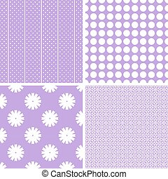 diferente, vetorial, patterns., seamless, charming
