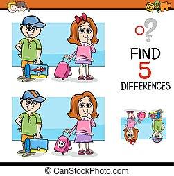différences, enfants, activité